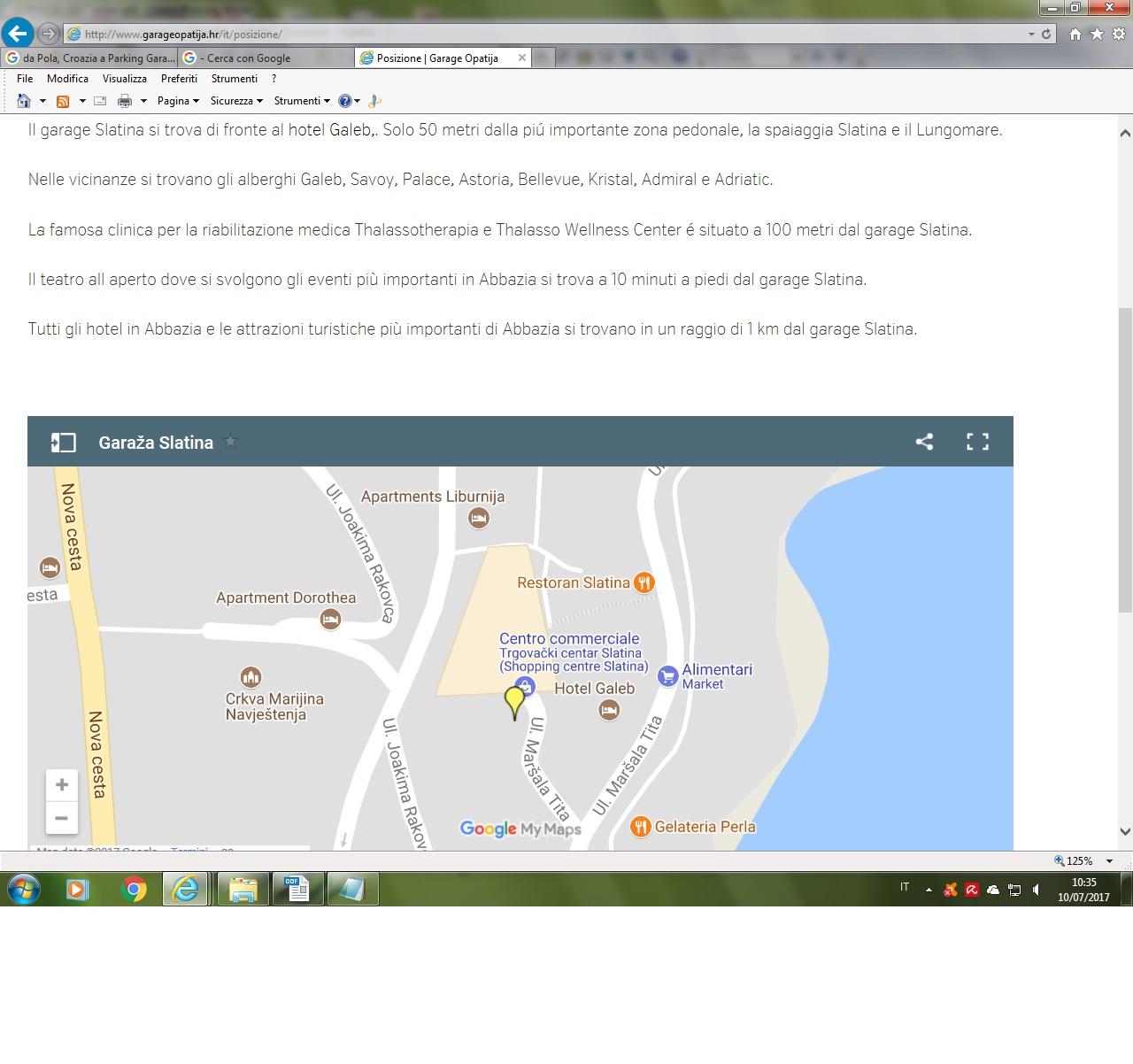 ABBAZIA garage Slatina map